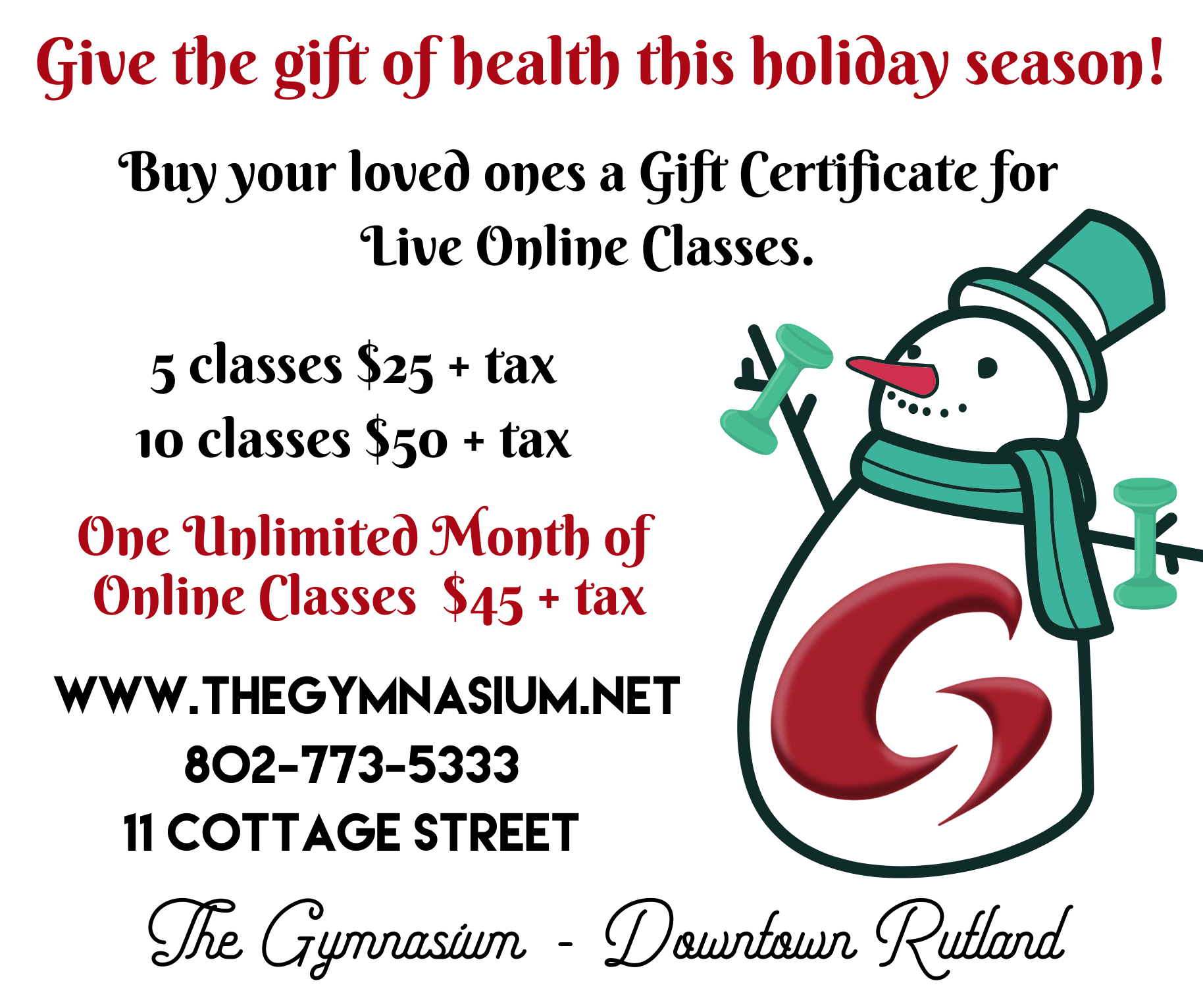 Holiday Ad for Website Homepage
